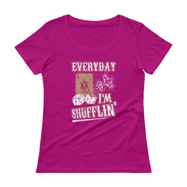 Everyday I'm Shufflin' – Scoopneck T-shirt