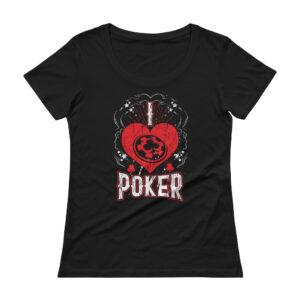 I <3 Poker – Scoopneck T-shirt
