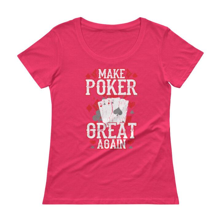 Make Poker Great Again – Scoopneck T-shirt