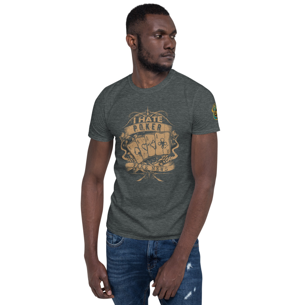 I Hate Poker, Fake News  – Jpa Men's T-shirt