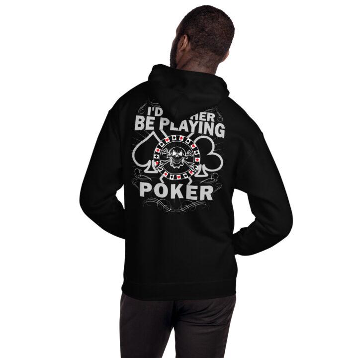 Buffalo Pub Poker – I'd Rather Be Playing Poker – Unisex Hoodie