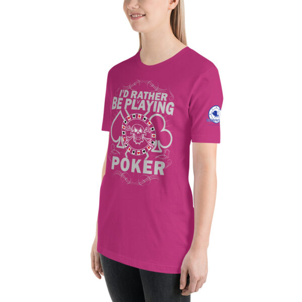 Buffalo Pub Poker – I'd Rather Be Playing Poker – Women's T-shirt