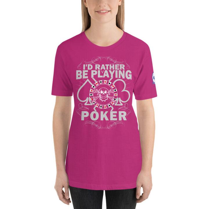 Buffalo Pub Poker – I'd Rather Be Playing Poker – Women's T-shirt