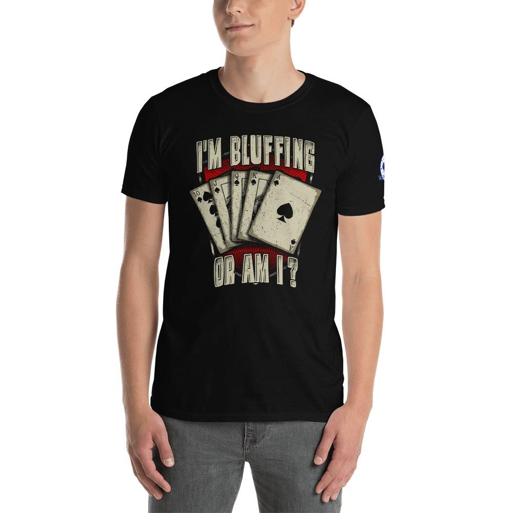 Buffalo Pub Poker – I'm Bluffin' Or Am I? –  Men's T-shirt