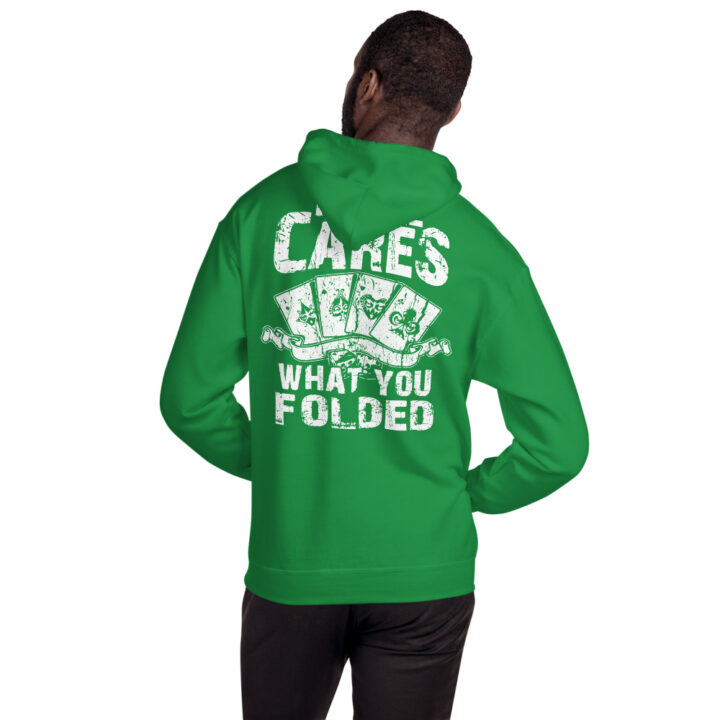 Buffalo Pub Poker – No One Cares What You Folded –  Unisex Hoodie