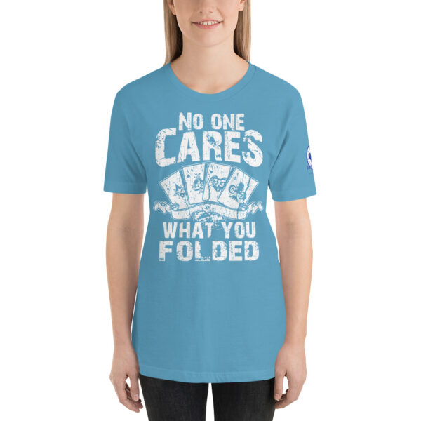 Buffalo Pub Poker – No One Cares What You Folded –  Women's T-shirt