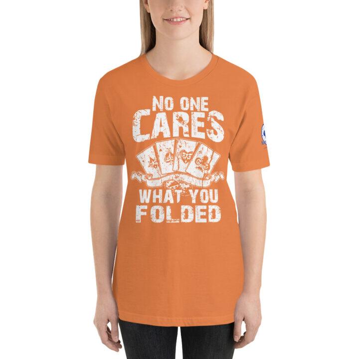 Buffalo Pub Poker – No One Cares What You Folded –  Women's T-shirt