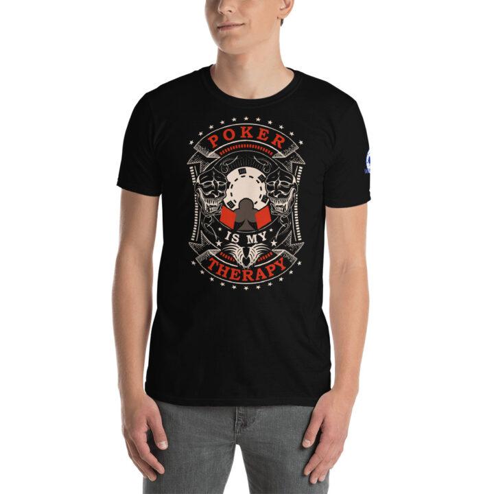 Buffalo Pub Poker – Poker Is My Therapy –  Men's T-shirt