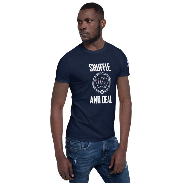 Buffalo Pub Poker – Shuffle And Deal –  Men's T-shirt
