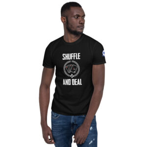 Buffalo Pub Poker – Shuffle And Deal –  Men's T-shirt