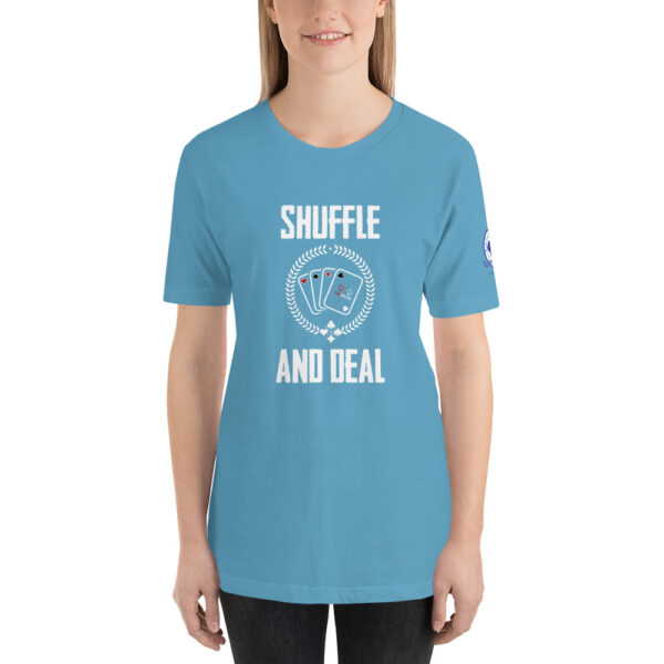 Buffalo Pub Poker – Shuffle And Deal –  Women's T-shirt