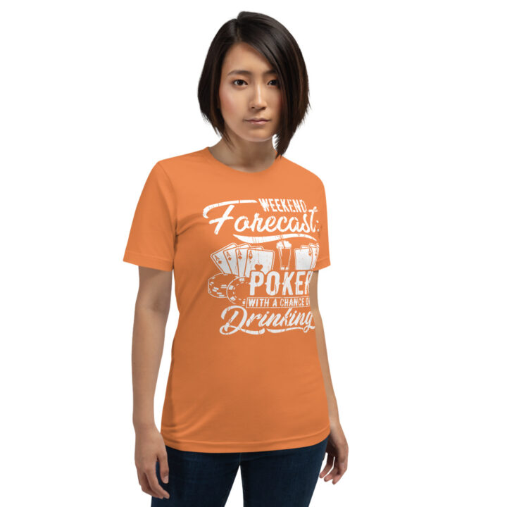 Buffalo Pub Poker – Weekend Forecast Poker With A Chance Of Drinking – Women's T-shirt