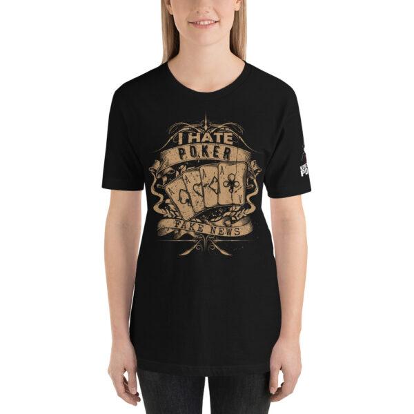 Kontenders – I Hate Poker Fake News –  Women's T-shirt