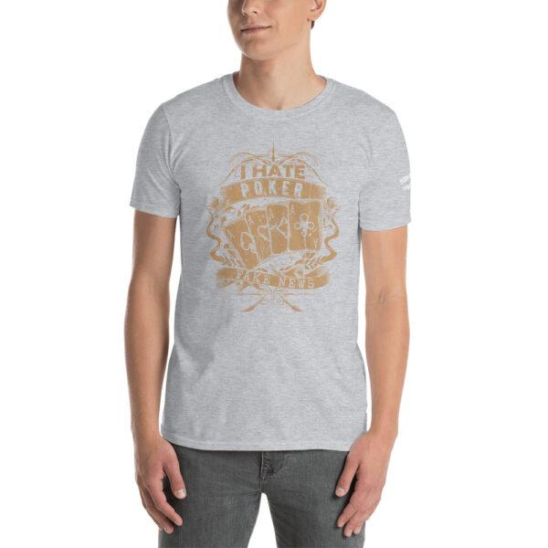 Private: Pikes Peak Poker – I Hate Poker Fake News –  Men's T-shirt