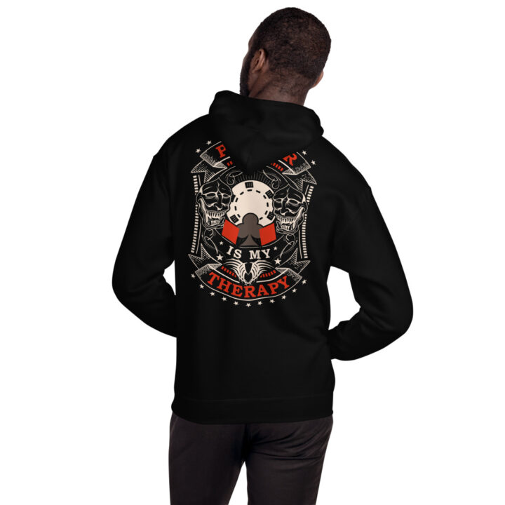 Private: Pikes Peak Poker – Poker Is My Therapy – Unisex Hoodie