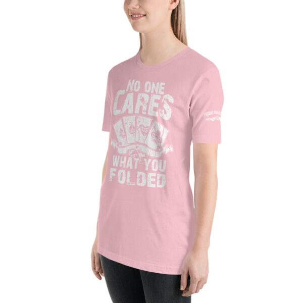 Private: Pikes Peak Poker – No One Cares What You Folded –  Women's T-shirt