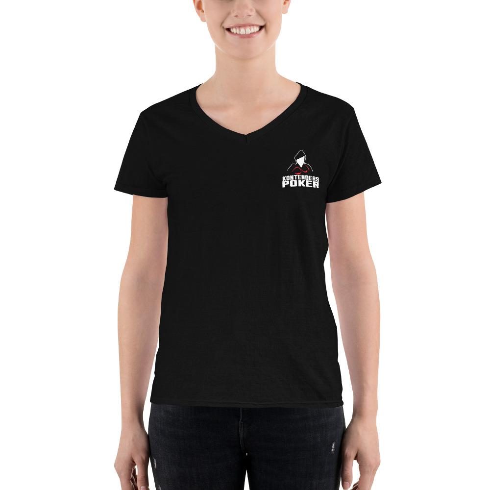 Kontenders Poker – Women's Casual V-neck Shirt
