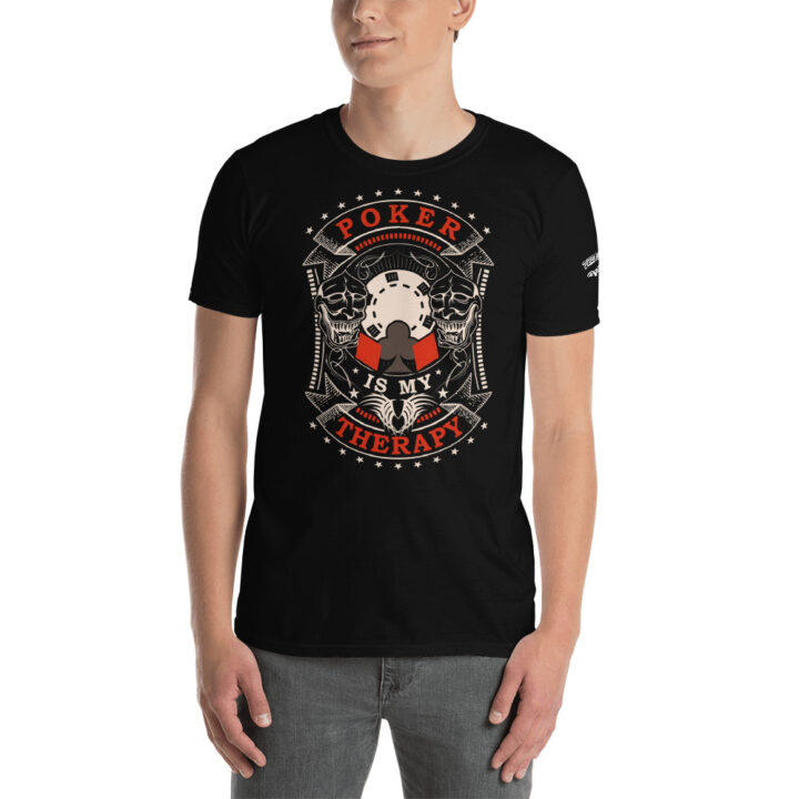 Private: Pikes Peak Poker – Poker Is My Therapy –  Men's T-shirt