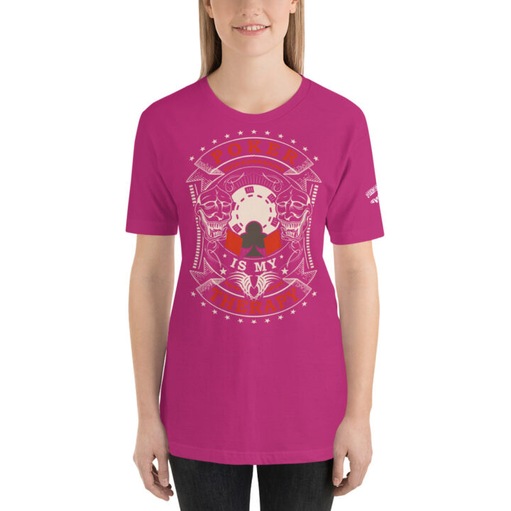 Private: Pikes Peak Poker – Poker Is My Therapy – Women's T-shirt