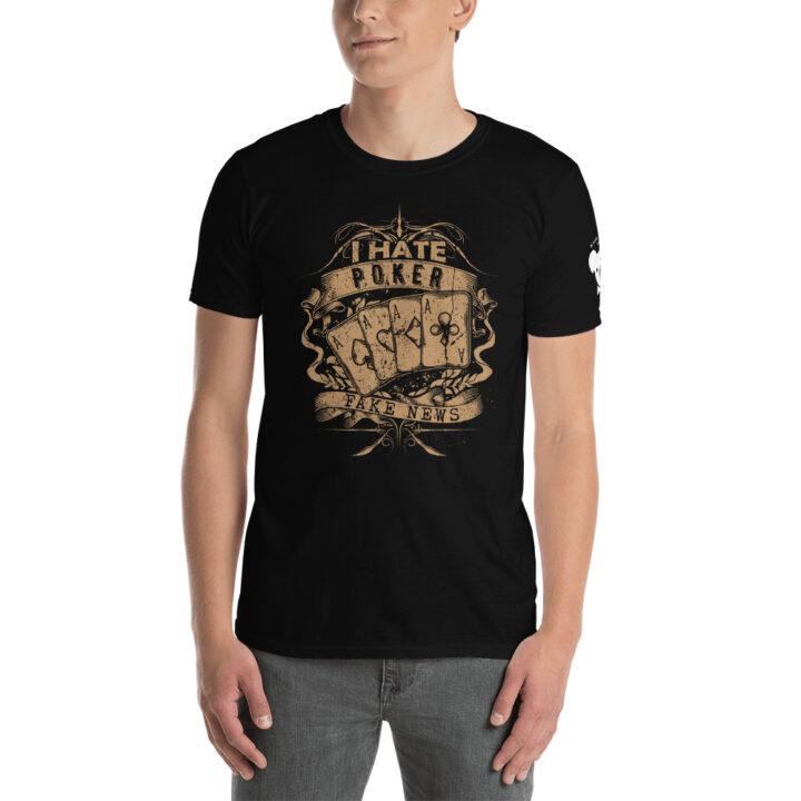 Private: Koala T. Poker – I Hate Poker Fake News –  Men's T-shirt